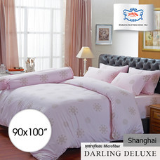 Darling Deluxe ผ้าห่มนวมเย็บติด รุ่น English Romantic  90 x 100 นิ้ว - Shanghai