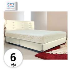 Darling Deluxe ที่นอนพร้อมเตียง 6 ฟุต Riviera Box Spring & Head Board รุ่น Delina - White Cream