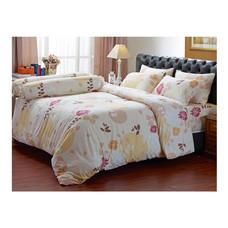 Darling Deluxe ชุดผ้าปูที่นอนแบบรัดมุมพร้อมผ้าห่มนวม 6 ชิ้น รุ่น English Romantic  สำหรับที่นอน 5 ฟุต - Bubble