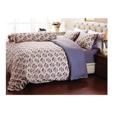 Darling Deluxe ชุดผ้าปูที่นอนแบบรัดมุมพร้อมผ้าห่มนวม 6 ชิ้น รุ่น English Romantic  สำหรับที่นอน 5 ฟุต - Diana