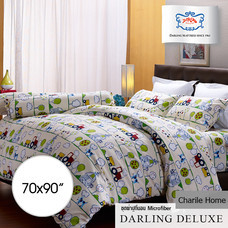 Darling Deluxe ผ้าห่มนวมไมโครไฟเบอร์ เย็บติด 70 x 90 นิ้ว Charile Home