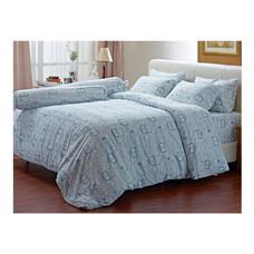 Darling Deluxe ชุดผ้าปูที่นอนแบบรัดมุมพร้อมผ้าห่มนวม 6 ชิ้น รุ่น English Romantic  สำหรับที่นอน 5 ฟุต - Vintage