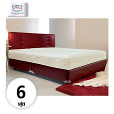Darling Deluxe ที่นอนพร้อมเตียง 6 ฟุต Riviera Box Spring & Head Board รุ่น Delina - Red
