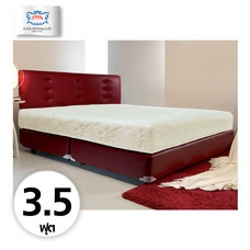Darling Deluxe ที่นอนพร้อมเตียง 3.5 ฟุต Riviera Box Spring & Head Board รุ่น Delina - Red