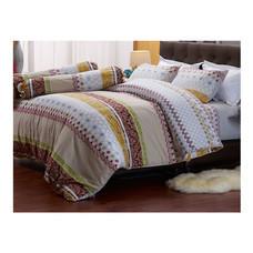 Darling Deluxe ชุดผ้าปูที่นอนแบบรัดมุมพร้อมผ้าห่มนวม 6 ชิ้น รุ่น English Romantic  สำหรับที่นอน 5 ฟุต - Rachel
