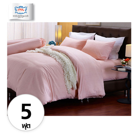 Darling Deluxe ชุดผ้าปูที่นอนแบบรัดมุมพร้อมผ้าห่มนวม 6 ชิ้น รุ่น English Romantic สำหรับที่นอน 5 ฟุต - Mary Land