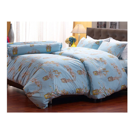 Darling Deluxe ชุดผ้าปูที่นอนแบบรัดมุมพร้อมผ้าห่มนวม 4 ชิ้น รุ่น English Romantic สำหรับที่นอน 3.5 ฟุต - Rapunzel