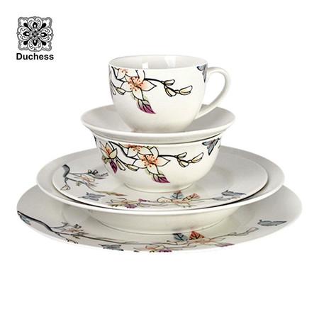 Duchess ชุดจานดินเนอร์ Fine China Floral SS650 (6 ชิ้น)