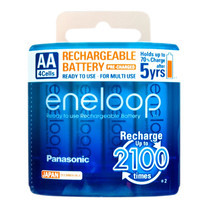 Eneloop Rechargeable Battery AA รุ่น BK-3MCCE/4NT - White (4 ก้อน/แพ็ค)