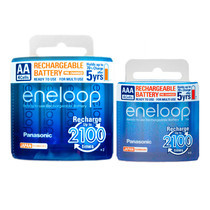 Eneloop Panasonic rechargeable Battery AA, AAA รุ่น BK-3MCCE/4NT+BK-4MCCE/4NT - White (4 ก้อน+4 ก้อน)