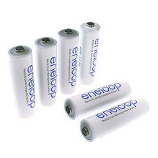 Eneloop Rechargeable Battery AA รุ่น BK-3MCCE/2NT+BK-3MCCE/4NT - White (6 ก้อน)