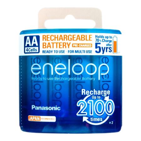 Eneloop Rechargeable Battery AA รุ่น BK-3MCCE/4NT - White (4 ก้อน/แพ็ค)