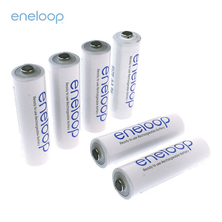 Eneloop Rechargeable Battery AA รุ่น BK-3MCCE/2NT+BK-3MCCE/4NT - White (6 ก้อน)
