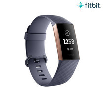 Fitbit Charge 3 Advanced Fitness Tracker - Rose Gold Blue Gray