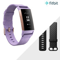 Fitbit Charge 3 Advanced Fitness Tracker Rose Glod Lavender