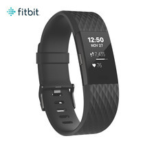 Fitbit Charge2 Heart Rate and Fitness Wristband Large (Black Gunmetal)