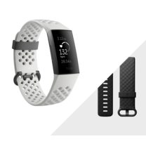 Fitbit Charge 3 Advanced Fitness Tracker Graphite White
