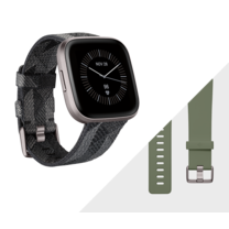 Fitbit Versa 2 SE (NFC) Smart Watch Charcoal - Iron Mist