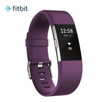 Fitbit Charge2 Heart Rate and Fitness Wristband Large (Plum/Silver)