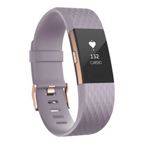Fitbit Charge2 Heart Rate and Fitness Wristband Large (Lavender Rose/Gold)