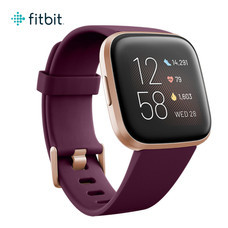 Fitbit Versa 2 (NFC) Smart Watch - Bordeaux/Copper Rose