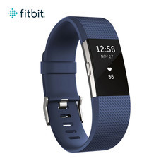 Fitbit Charge2 Heart Rate and Fitness Wristband Large (Blue/Silver)