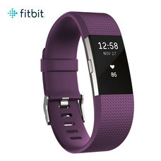 Fitbit Charge2 Heart Rate and Fitness Wristband Small (Plum/Silver)