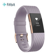 Fitbit Charge2 Heart Rate and Fitness Wristband Small (Lavender Rose/Gold)