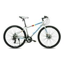 Tiger จักรยานไฮบริด รุ่น Pedal (ล้อ 700C) - สีเงิน