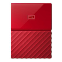 2.0 TB HDD EXT (ฮาร์ดดิสพกพา) WD MY PASSPORT 2017 RED (WDBS4B0020BRD)