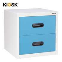 KIOSK ตู้เล็ก 2 ลิ้นชัก รุ่น Uni-box 2 Drawers พร้อมระบบรางเลื่อน (Ball Bearing Runner System) - BO-Blue Ocean