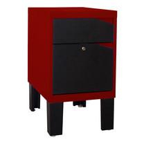 KIOSK ตู้ข้าง 2 ลิ้นชัก รุ่น Konner - สีดำ/แดง