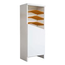 KIOSK ตู้รองเท้าชั้นเอียง 7 ชั้น รุ่น Angolo 1 บานประตู (วางรองเท้าได้ 16 คู่) - DG/DG/OR