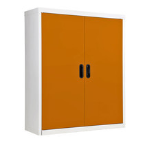 KIOSK ตู้วางหนังสือขนาดกลาง 2 บานเปิด รุ่น Maxbook Half Height 2 Steel Door Cabinet พร้อมชั้นวาง 2 ชั้น (ปรับระดับได้) - OR-Orange
