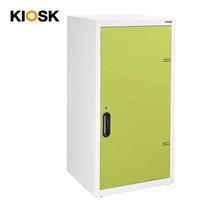 KIOSK ตู้บานเปิดทึบทรงสูง 2 ชั้น รุ่น Uni-box Double-Box Steel Door พร้อมชั้นวาง 2 ชั้น + กุญแจล็อค (ปรับระดับได้) - GR-Green