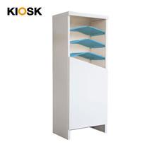 KIOSK ตู้รองเท้าชั้นเอียง 7 ชั้น รุ่น Angolo 1 บานประตู (วางรองเท้าได้ 16 คู่) - DG/DG/BO