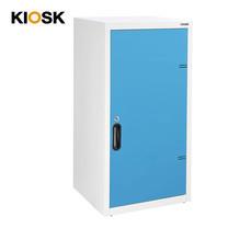 KIOSK ตู้บานเปิดทึบทรงสูง 2 ชั้น รุ่น Uni-box Double-Box Steel Door พร้อมชั้นวาง 2 ชั้น + กุญแจล็อค (ปรับระดับได้) - BO-Blue Ocean
