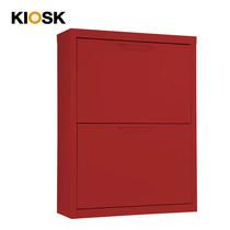 KIOSK ตู้รองเท้าบานสวิง 2 ลิ้นชัก รุ่น Swing (วางรองเท้าได้ 12 คู่) - RD-Red