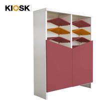 KIOSK ตู้รองเท้าชั้นเอียง 14 ชั้น รุ่น Angolo 2 บานประตู (วางรองเท้าได้ 32 คู่) - DG/MS/MS+OR