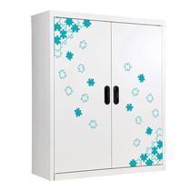 KIOSK ตู้วางหนังสือขนาดกลาง 2 บานเปิด รุ่น Maxbook Half Height 2 Steel Door Cabinet พร้อมชั้นวาง 2 ชั้น (ปรับระดับได้) - ลาย Jigsaw