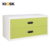 KIOSK ตู้ทรงเตี้ย 2 ลิ้นชัก รุ่น Uni-box S-box Drawers พร้อมระบบรางเลื่อน (Ball Bearing Runner System) - GR-Green