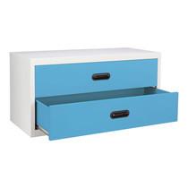 KIOSK ตู้ทรงเตี้ย 2 ลิ้นชัก รุ่น Uni-box S-box Drawers พร้อมระบบรางเลื่อน (Ball Bearing Runner System) - BO-Blue Ocean