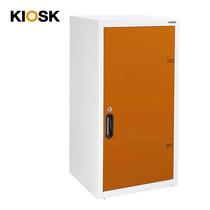 KIOSK ตู้บานเปิดทึบทรงสูง 2 ชั้น รุ่น Uni-box Double-Box Steel Door พร้อมชั้นวาง 2 ชั้น + กุญแจล็อค (ปรับระดับได้) - OR-Orange