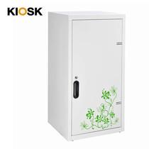KIOSK ตู้บานเปิดทรงสูง มีลวดลาย รุ่น Uni-line Double-Box Seel Door พร้อมชั้นวาง 2 ชั้น + กุญแจล็อค (ปรับระดับได้) - ลาย Vintage
