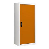 KIOSK ตู้วางหนังสือขนาดกลาง 1 บานเปิด รุ่น Maxbook Half Height 1 Steel Door Cabinet พร้อมชั้นวาง 2 ชั้น (ปรับระดับได้) - OR-Orange