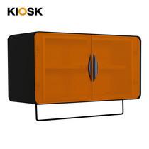 KIOSK ตู้แขวนบานเปิดกว้าง รุ่น Punto - สีดำ/ส้ม