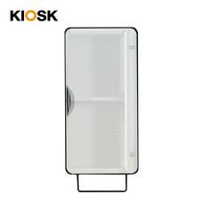 KIOSK ตู้แขวนบานเปิดสูง รุ่น Punto - สีดำ/ขาว