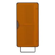 KIOSK ตู้แขวนบานเปิดสูง รุ่น Punto - สีดำ/ส้ม