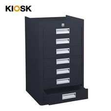 KIOSK ตู้เอกสาร 7 ลิ้นชัก รุ่น KU-407 - สีดำ