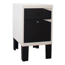 KIOSK ตู้ข้าง 2 ลิ้นชัก รุ่น Konner - สีดำ/ขาว